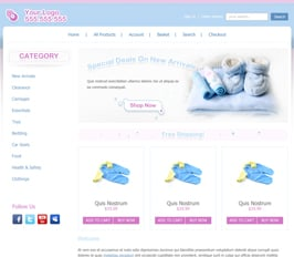 Miva Merchant Baby Products Store Template