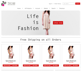 Miva Merchant Fashion Store Template