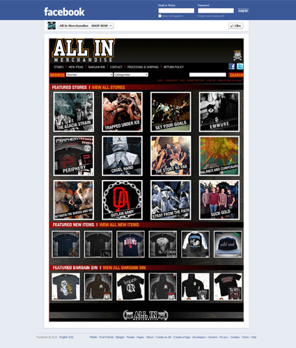 All In Merch Facebook page