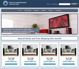 Miva Merchant Home Entertainment Store Template