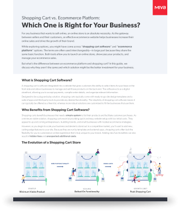 Guide: Shopping Cart vs. Ecommerce Platform