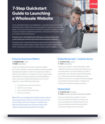 7-Step Quickstart Guide to Launching a Wholesale Website