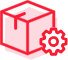 Icon of closed box and a gear.