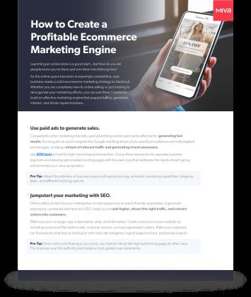 How to Create a Profitable Ecommerce Marketing Engine
