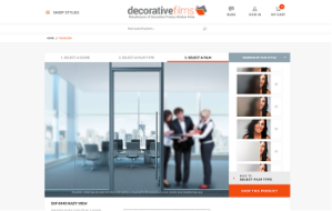 Decorative Films website screenshot. Sized for mobile.