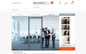 Decorative Films website screenshot. Sized for mobile.