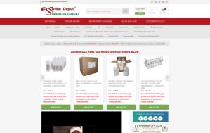 Essential Depot website screenshot. Sized for mobile.