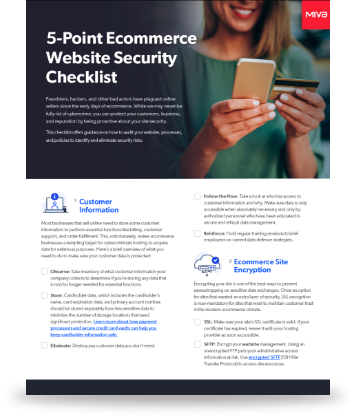 Guide: 5-Point Ecommerce Website Security Checklist