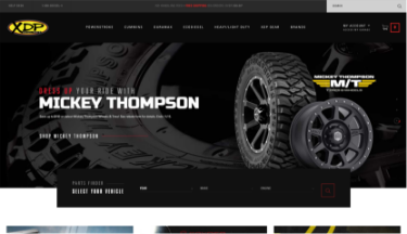 Xtreme Diesel Performance website screenshot. Sized for tablet.